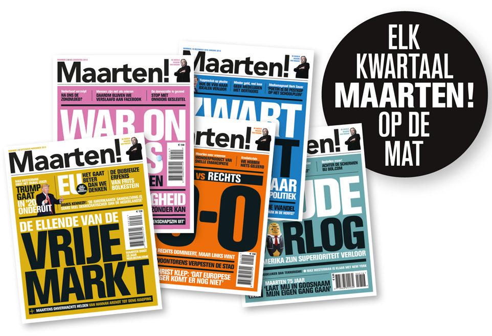 Vijf nummers Maarten!