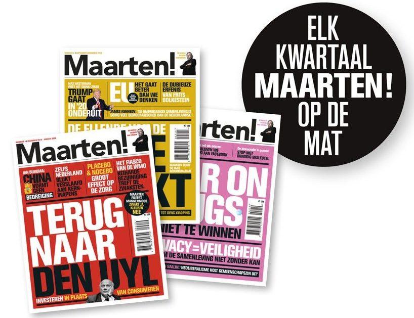 Drie nummers Maarten!
